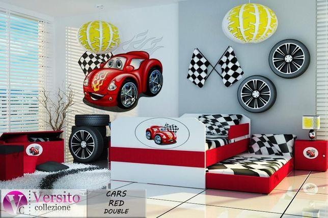 Łóżko piętrowe Cars Red,czerwony samochód,łóżko dla dziecka + materace