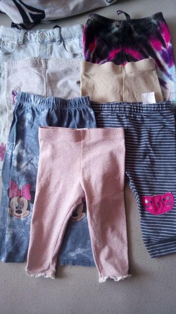 Legginsy spodnie dziewczęce r 74 -80