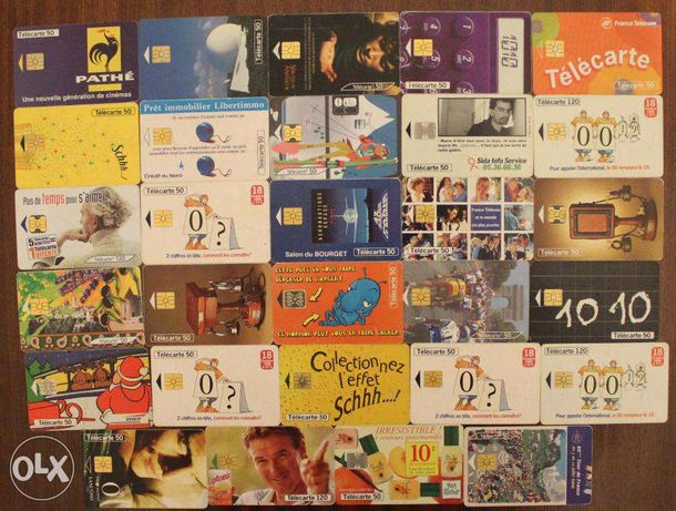 Cartões telefone franceses - télécartes