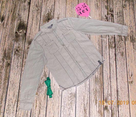 Нарядная фирменная рубашка для мальчика 13-14 лет,158-164 см