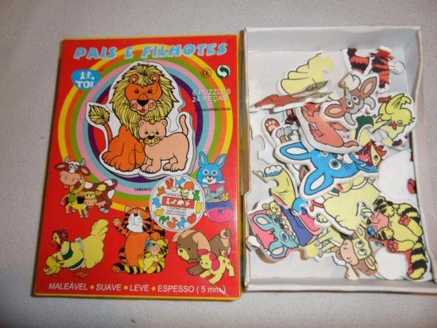Jogo Puzzel Pais e filhotes