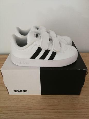 NOWE Buty sportowe dla chłopca Adidas Court 23 skórzane na rzepy