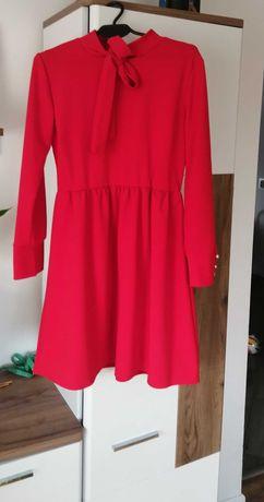 Sukienka czerwona, świąteczna 38