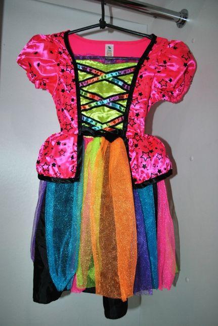 Платье нарядное новогоднее яркое 5-6 лет розовое принцесса хеллоуин