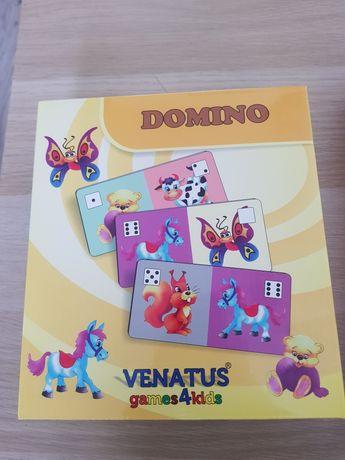 Domino obrazkowe - gra logiczna; 28 kafli 5x9cm, NOWE