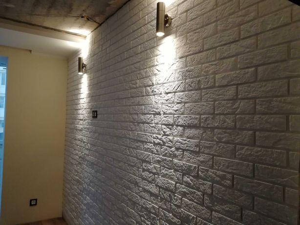 Укладка декоративного камня, кирпича на стены, укладка ЛАМИНАТА
