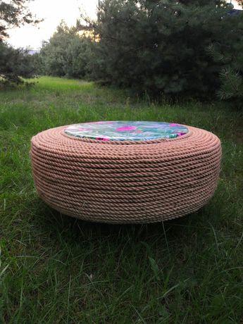 Stolik ogrodowy z opony
