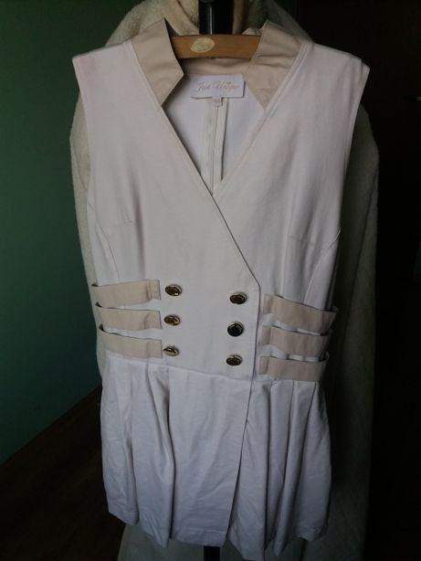 Zmysłowa XS krótka sukienka z kieszeniami