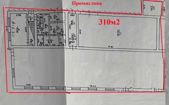 Комерційне приміщення під склад, виробництво на ПРОМИСЛОВІЙ