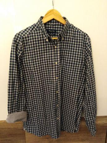 Koszula massimo dutti w drobną krateczke casual fit rozmiar L