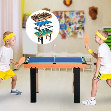 Mesa 4 em 1 bilhar, ping-pong, hoquei e matrecos