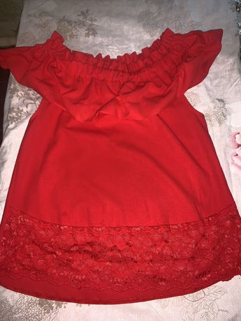 Красная блуза блузка рубашка