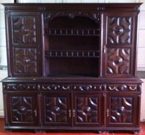 armario estante de sala rustica
