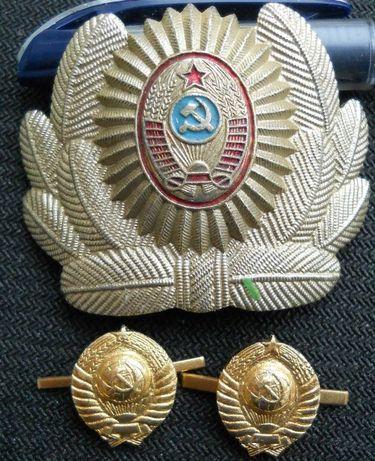 кокарда милиции + 2 эмблемы