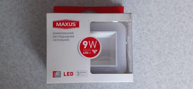 Maxus sdl 9w квадратный светильник