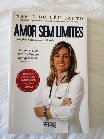 """Livro """"Amor sem limites"""" de Maria do Céu Pinto"""