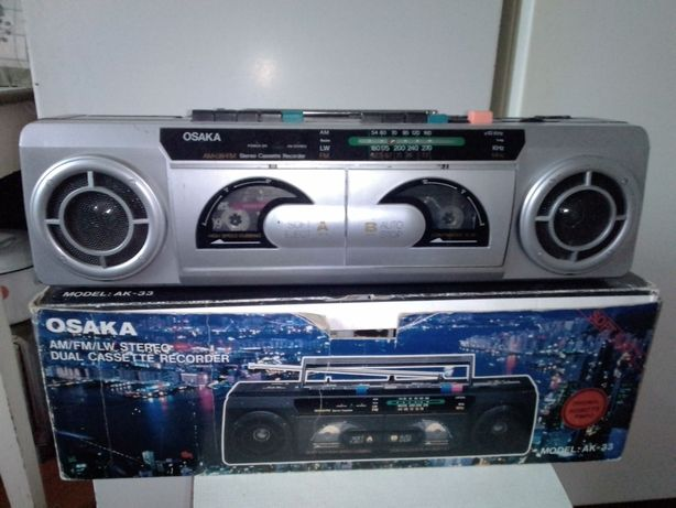 "Магнитола двухкассетная ""Osaka""."