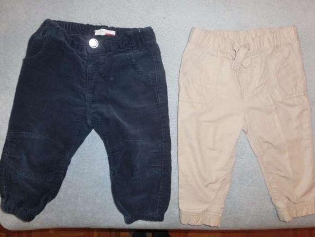 spodnie dla chłopca 2 pary- 86 granatowe i beżowe