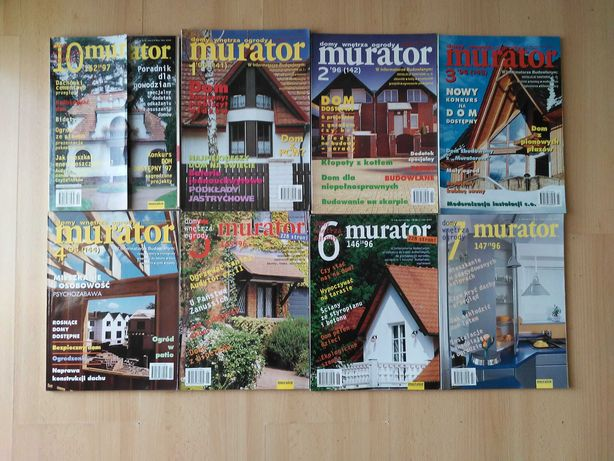 MURATOR  ( kultowy miesięcznik budowlany ) – 15 roczników  Okazja!!!