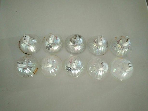 10 lâmpadas de halogéneo