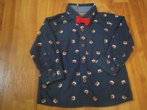 next 86 koszula świąteczna renifery muszka