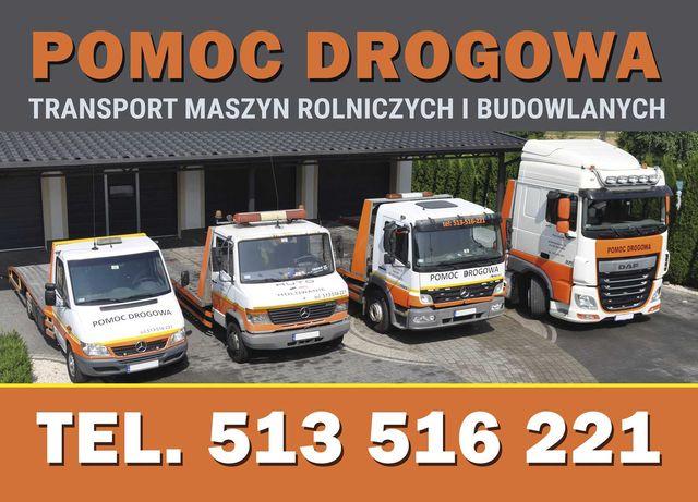 Pomoc Drogowa, Autolaweta, Laweta, Transport Koparek,Ciągników,Maszyn