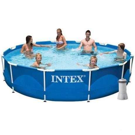 Интекс каркасный бассейн 28212, 366х76см фильтр-насос 2 006 л/ч intex