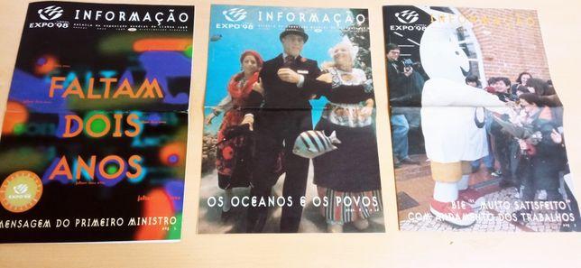 """3 numeros de  """"INFORMAÇÃO"""" - Boletim da EXPO 98"""