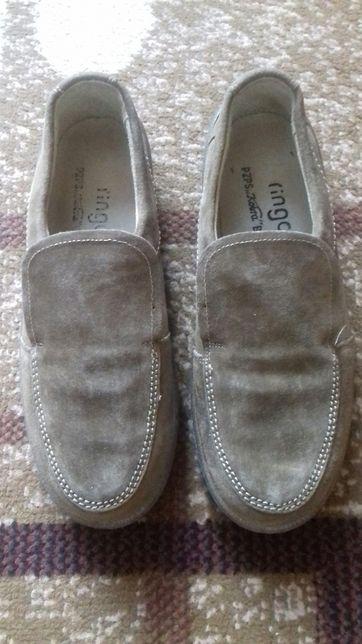 Buty skórzane, męskie, nowe, mokasyny, 42