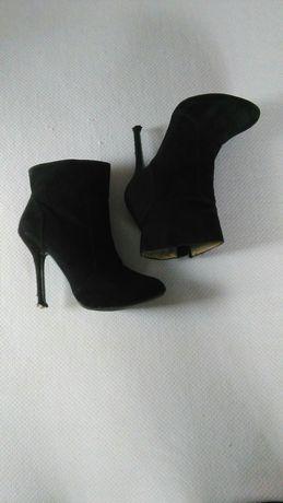 Czarne botki Zara