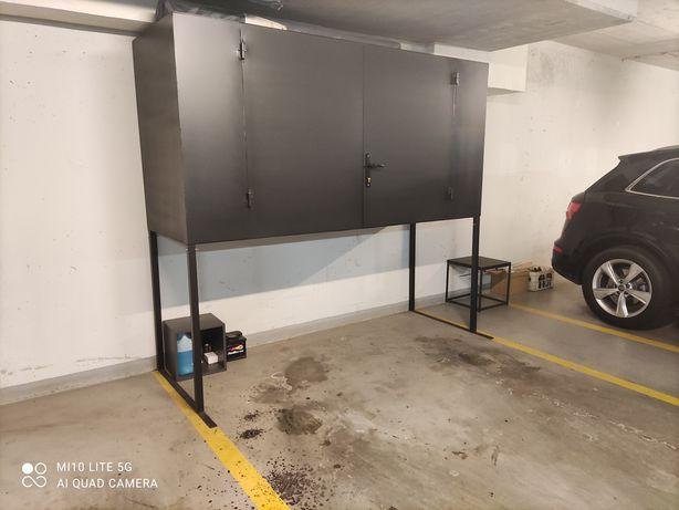 Szafa garażowa, metalowa, skrzynia