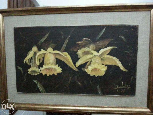 Quadro - Flores - 3 Jarros Amarelos