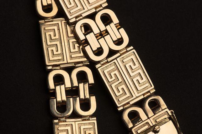 Złota Bransoleta 585 Splot Grecko-Celtycki
