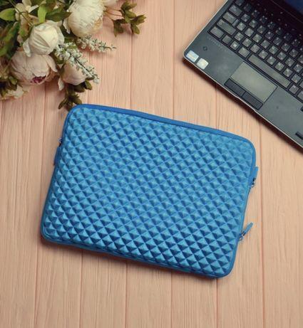 """13.3"""" чехол под ноутбук макбук в наличии новый голубой объёмный"""