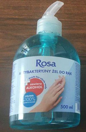 Rosa żel antybakteryjny do dezynfekcji rąk 500ml bhp