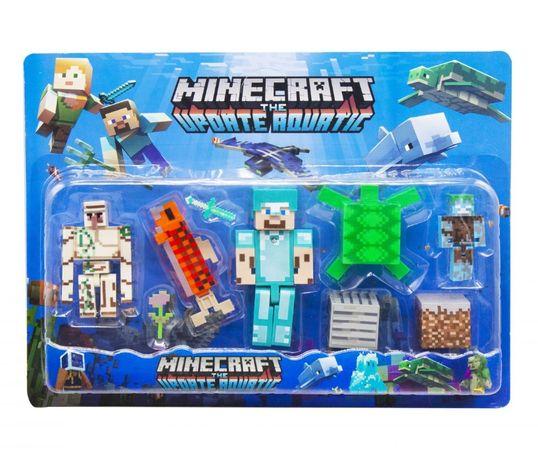 Большой набор героев Майнкрафт человечки персонажи Minecraft Подарок