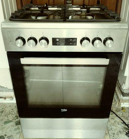 Kuchenka gazowo-elektryczna srebrna 60cm dowóz