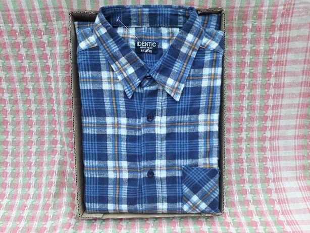 Рубашка мужская демисезонная байковая в клетку от IDENTIC, М 39-40