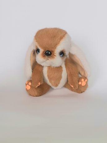 Пухнасте Цуценя  iграшкове ручна робота подарок девочке щенок собачка