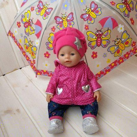 Яркий комплект одежды для Беби Борн Baby Born курточка обувь комбез