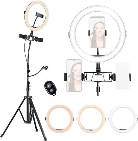 OUTLET - lampa pierścieniowa lampka led makeup do makijażu video vlog