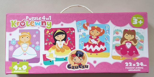 Puzzle CzuCzu 4w1 Księżniczki, wiek 3+