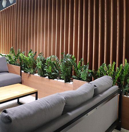 Lamele - panele pionowe drewniane 3D. Listwy lamelowe na ścianę Luxum