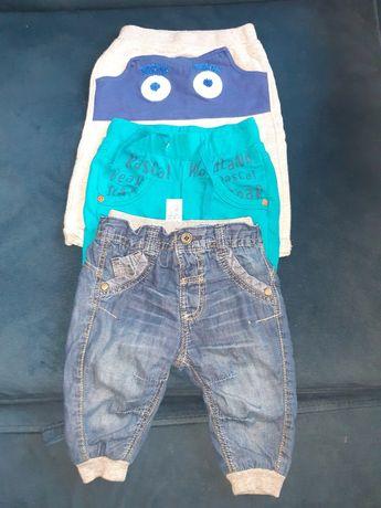 Spodnie r. 68, 3 pary