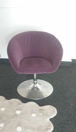 Fotel obrotowy welurowy