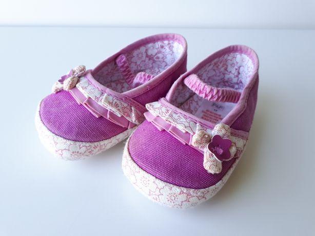BUCIKI buty dla małej dziewczynki, tenisówki F&F wkł. 9,5 cm r. 17