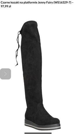 Kozaki długie buty za kolano 38 nowe