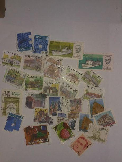Sprzedam znaczki pocztowe 30 szt. współczesne kasowane.
