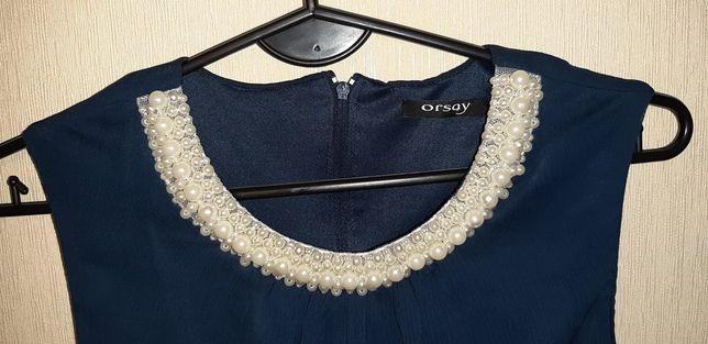 Granatowa sukienka koktajlowa Orsay 36