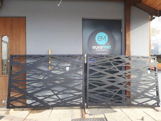 Brama ogrodzenie Modern blacha wypalana laserem Producent Euro-Met